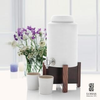 【陸寶Lohas Pottery】禪風品水罐  黑/白(儲水罐 簡約陶器 飲好水)
