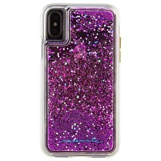 【美國 Case-Mate】iPhone XS / X Waterfall(亮粉瀑布防摔手機保護殼 - 紫紅)