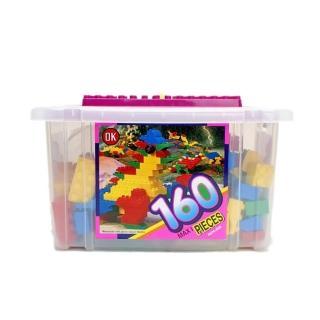 【OK - 教學積木】幼兒大顆粒積木收納箱 160 pcs