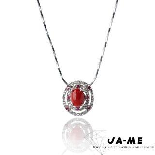 【JA-ME】天然正紅珊瑚呵護項鍊