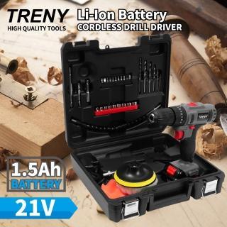 【TRENY】21V 鋰電雙速震動起子機