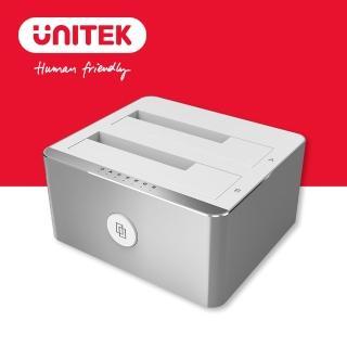 【UNITEK 優越者USB3.0雙槽硬碟外接盒2.5/3.5吋】Y-3026