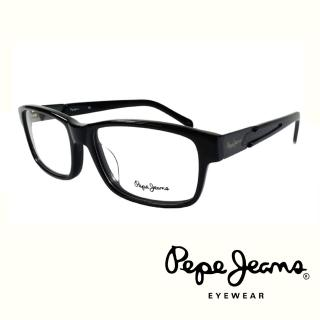 【Pepe Jeans】英倫時尚低調編織紋路造型光學眼鏡(PJ3129-1MC1  黑)