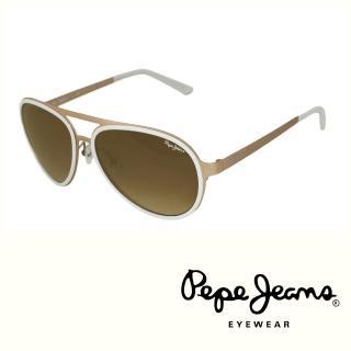 【Pepe Jeans】英倫時尚經典復古風格太陽眼鏡(PJ7111MC3  咖啡)