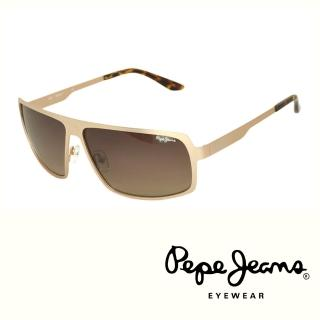 【Pepe Jeans】英倫時尚簡約個性風格太陽眼鏡(PJ5060MC3  琥珀黃)