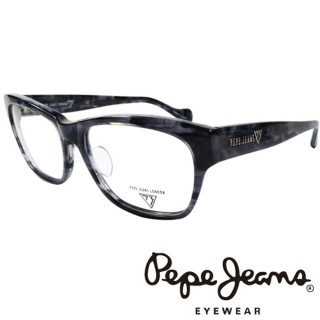 【Pepe Jeans】時尚低調龐克星型暗花光學眼鏡(PJ734102M918 灰黑)
