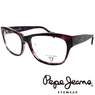 【Pepe Jeans】時尚低調龐克星型暗花光學眼鏡(PJ734102M719 紫)