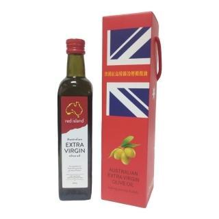 【澳利康】澳洲 red island紅島 特級冷壓初榨橄欖油 500ml 單入禮盒組