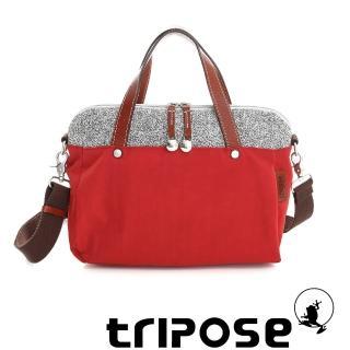 【tripose】漫遊系列岩紋玩色兩用手提背包(番茄紅)