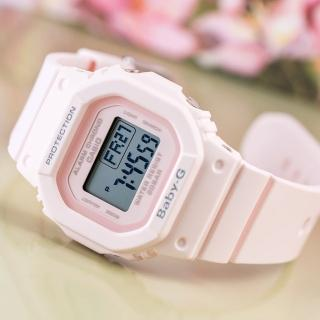 【CASIO 卡西歐】BABY-G 百搭復古時尚腕錶-櫻花粉(BGD-560-4DR)