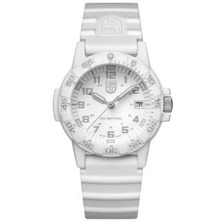 【LUMINOX 雷明時】SEA TURTLE 0300海龜系列腕錶-白x灰時標(39mm)