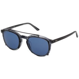 【TOD'S】帥氣飛行員款 太陽眼鏡(透明藍灰)