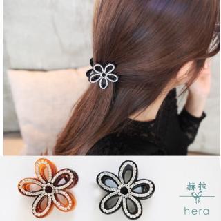 【HERA 赫拉】立體鏤空花朵水鑽髮夾/抓夾(2色)