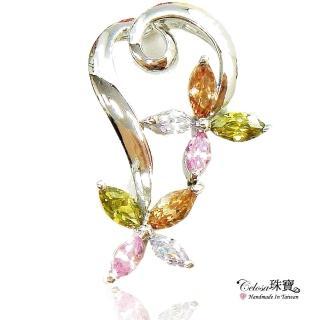 【Celosa】花苑美彩色晶鑽墜鍊