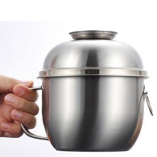 【PUSH!】餐具用品多用途304不銹鋼分層飯盒便當盒(泡麵碗E99)