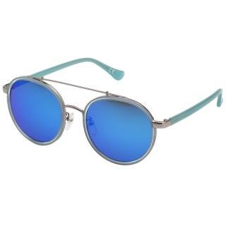 【Calvin Klein (CK)】韓版系列 水銀面 太陽眼鏡CK1225SK(銀配藍)