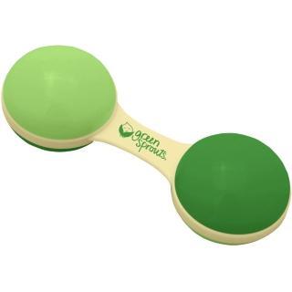 【美國 green sprouts】植物性製成玩具啞鈴波浪鼓_ 草綠色(GS243341-3)