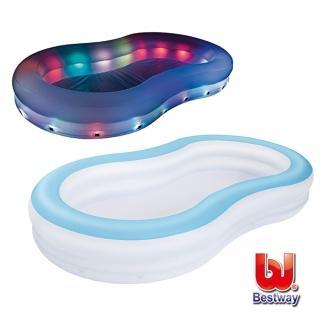 【BESTWAY】變色彩燈家庭充氣戲水泳池(54135)
