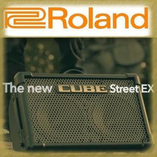 【ROLAND 樂蘭】50W可電池供電立體聲擴大音箱 / 贈導線 公司貨(CUBE Street EX)