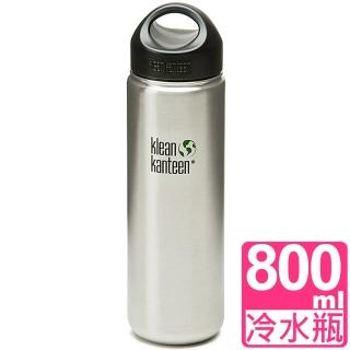 【Klean Kanteen】寬口不鏽鋼冷水瓶800ml 原鋼色