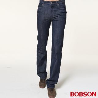 ~BOBSON~男款低腰伸縮直筒褲 藍1722~52