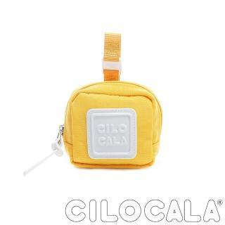 【CILOCALA】亮彩尼龍防潑水可扣式零錢包(黃色)/