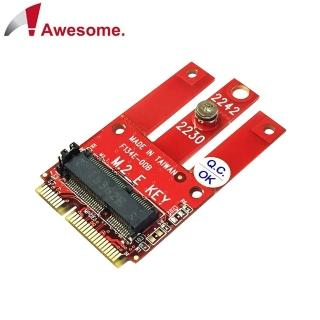 【Awesome 和順】PCIe & USB M.2 Wireless模組轉mPCIe轉接卡(AWD-DT-134E)