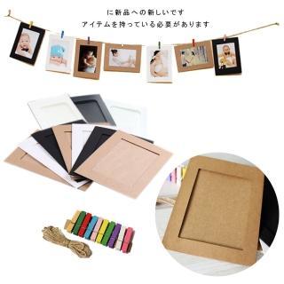 【kiret】4X6 紙相框 牛皮紙相框-10入組(相片 照片 DIY製作 相片牆 相片框 相本 相簿)