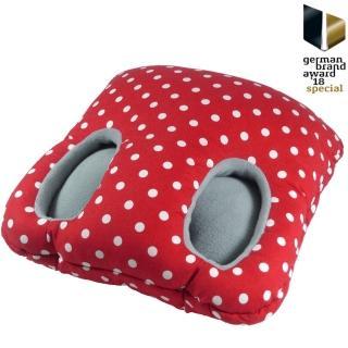 【Leschi 萊思綺】保暖腳踏墊(紅白點)