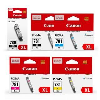 【Canon】PGI-780XL-BK+CLI-781XL-BK/C/M/Y 原廠墨水組合(速達)