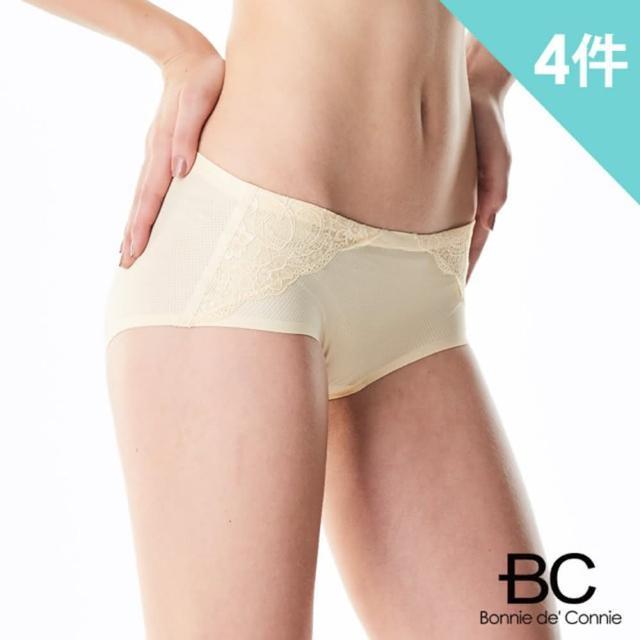 【法國BC】胡小禎代言-法國專利精品呼吸裸感蕾絲內褲(4件組)