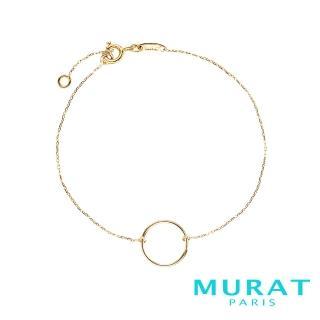 【MURAT Paris 米哈巴黎】法國輕珠寶 9K金 細緻圓圈手鍊(620635-18)