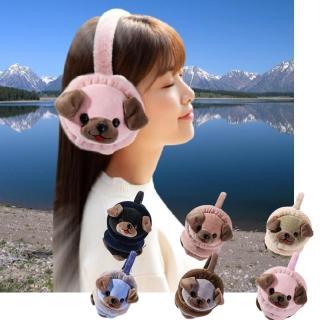 韓版 可愛狗狗耳罩(雜誌款 保暖耳罩 聖誕裝扮禮物)
