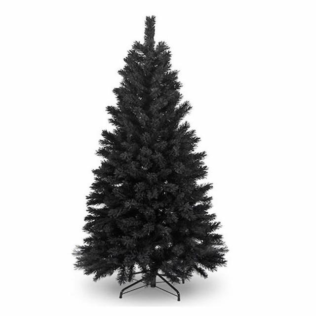 【摩達客】台灣製-7尺/7呎-210cm時尚豪華版黑色聖誕樹-裸樹(不含飾品/不含燈/本島免運費)/