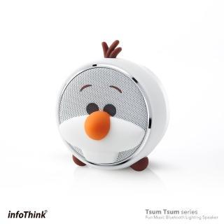 【InfoThink】TSUM TSUM玩音樂藍牙燈光喇叭(雪寶 Olaf)