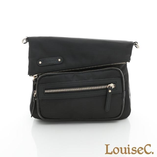 【LouiseC.】都會個性輕便小斜背包-黑色(03Z36-0061A05)