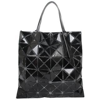 【ISSEY MIYAKE 三宅一生】BAOBAO 幾何方格6x6手提包(黑色/亮面)