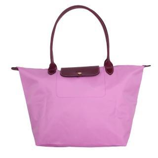 【LONGCHAMP】長提把大型折疊水餃包(粉紅色/L)