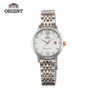 【ORIENT 東方錶】ORIENT 東方錶 OLD SCHOOL系列 時尚石英腕錶 鋼帶款 SSZ45001W 白色 - 28mm(石英錶)