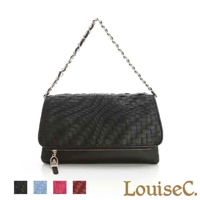 【LouiseC.】羊皮手工編織手拿鍊帶包-紅色(06L05-0017A01)