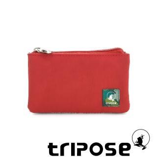 【tripose】漫遊系列岩紋簡約微旅萬用零錢包(番茄紅)