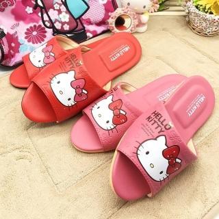 【蘿亞家居】Hello Kitty凱蒂貓大人小孩室內靜音防滑拖鞋一雙(粉紅色/紅色)