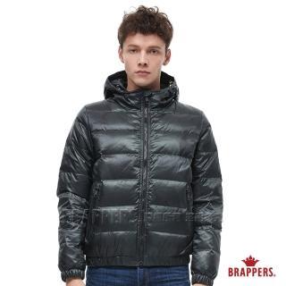 【BRAPPERS】男款 印花連帽羽絨外套(黑)