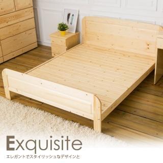 【時尚屋】沙羅5尺白松木實木雙人床-不含床頭櫃-床墊 CG8-082-3(免組裝 臥室系列)