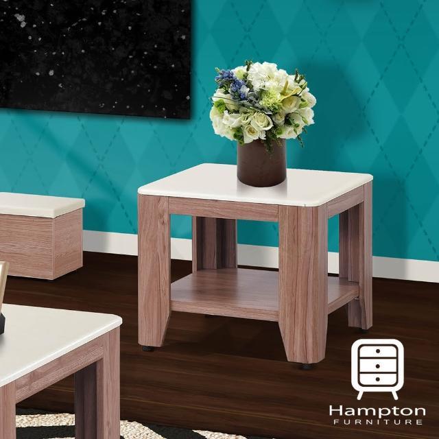 【Hampton 漢妮】雪柔柚木色石面小茶几(茶几/桌/咖啡桌/邊桌)