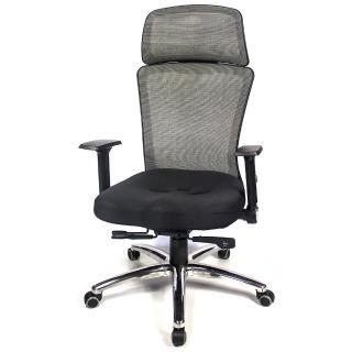 【Aaronation 愛倫國度】多彩網背調整扶手頭枕電腦椅七色可選(AM-A141-CB-L-HF)