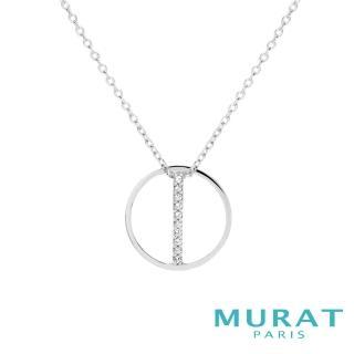 【MURAT Paris 米哈巴黎】法國輕珠寶 純銀 雅緻線條圓形項鍊(302823.1)
