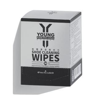 【Y.A.S】美鞋神器 鞋類清潔擦拭巾-30片/盒(YC03023)