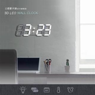可遙控立體3D LED立體數字時鐘/鬧鐘-大款(電子鐘/數字鐘)