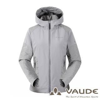 【VAUDE德國原廠】女款SoftShell刷毛保暖透氣外套(VA-1526093-17A 中灰/防風透氣/登山旅遊)